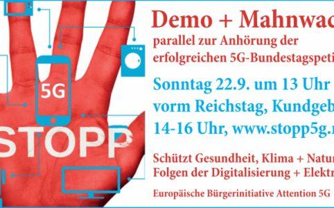 Demo gegen 5G in Berlin