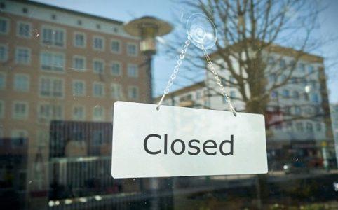 Corona Maßnahme: Läden geschlossen