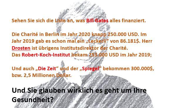 """Wer wird von Bill Gates finanziert? Glauben Sie, dass diese Verlage und Institutionen """"unabhängig"""" sind?"""