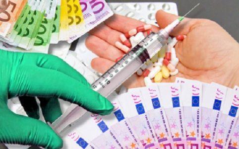 Geld, Spritze, Tabletten