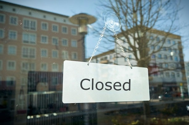 Lockdown in Coronazeiten - Geschlossener Laden
