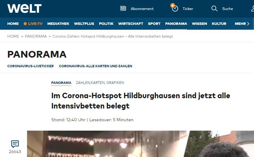 Welt.de - Zahlen aus Hildburghausen