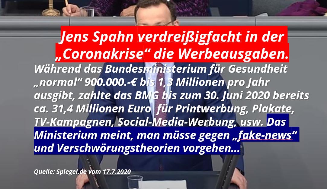 Werbeetatsteigerung BMG Spahn
