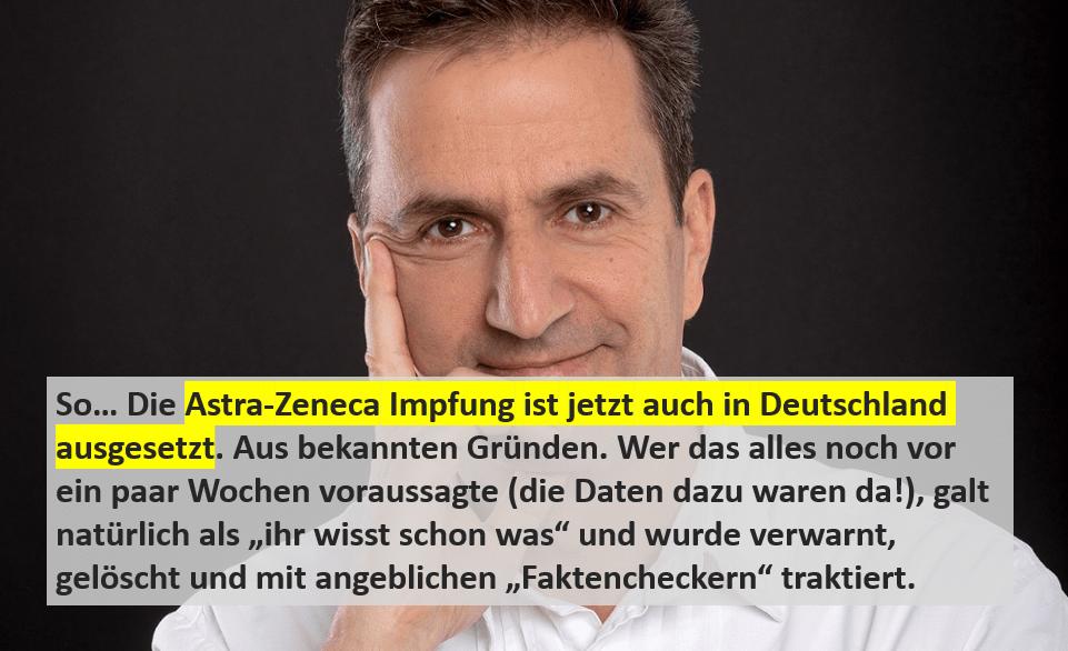 IMpfung mit Astra Zeneca ausgesetzt