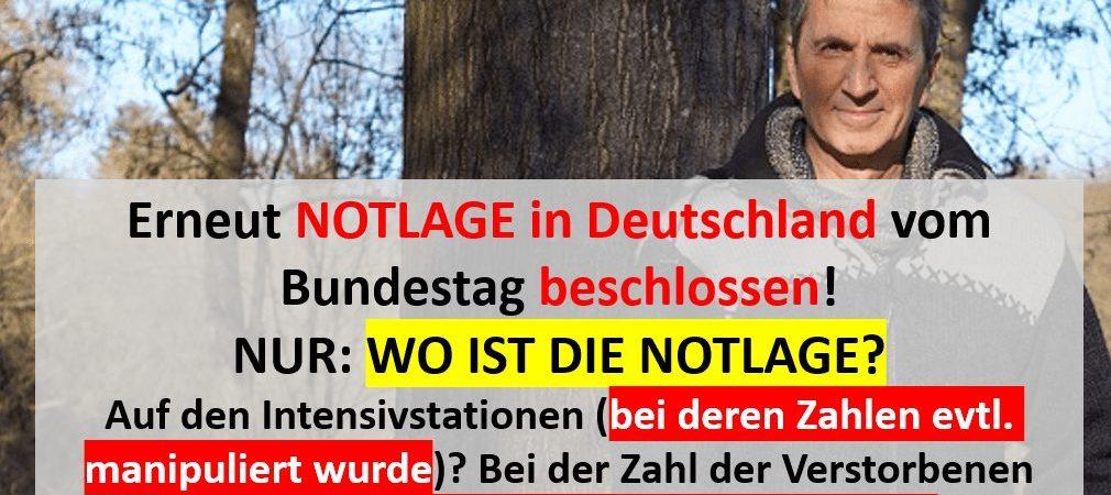 Notlage Corona in Deutschland?